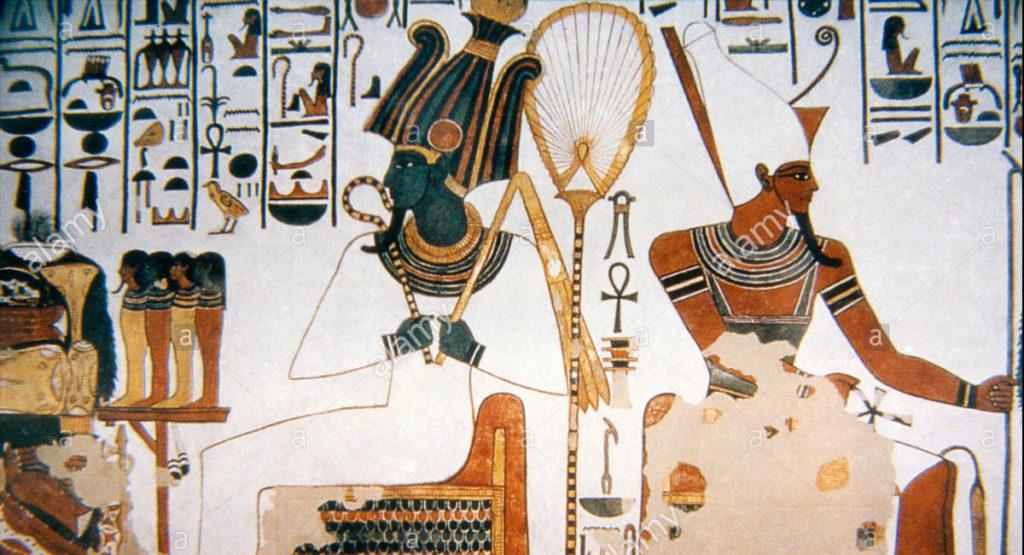 Il dio Atum nella tomba di Nefertari