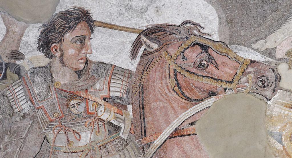 Alessandro Magno | Mosaico Battaglia di Isso, Pompei