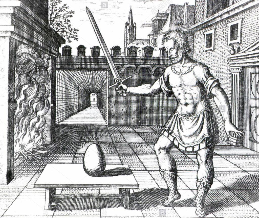 Prendete un uovo e colpire con una spada di fuoco, 1617