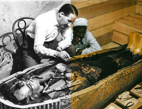 Le foto della tomba di Tutankhamon a colori